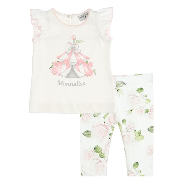 Picture of Monnalisa Baby Pink Leggings Set