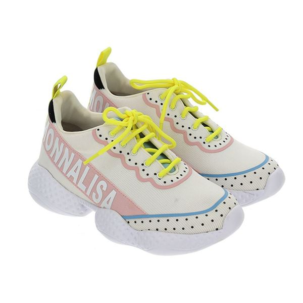 Picture of Monnalisa Yellow Logo Trainers