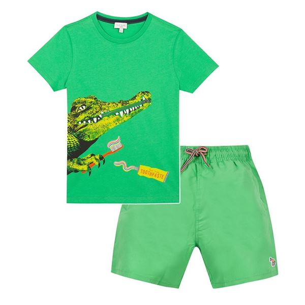 Picture of Paul Smith Boys Green Swimset