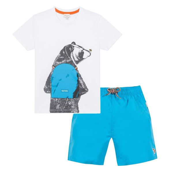 Picture of Paul Smith Boys Blue Swimset
