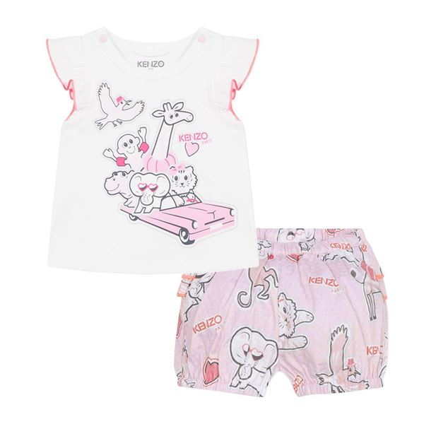 Picture of Kenzo Baby Girls Printed Short Set