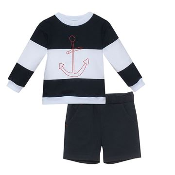 Picture of Patchou Boys Navy 2 Piece Short Set