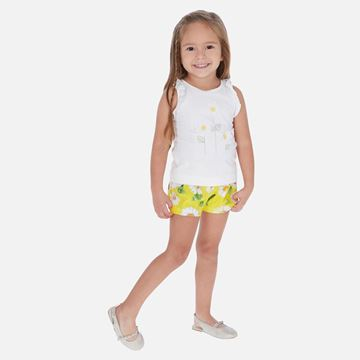 Picture of Mayoral Girls Yellow Daisy Short Set