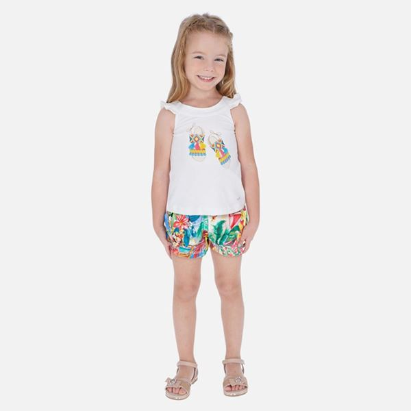 Picture of Mayoral Girls Printed Short Set