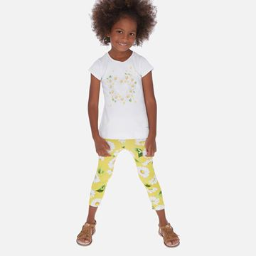 Picture of Mayoral Girls Yellow Daisy Leggings Set