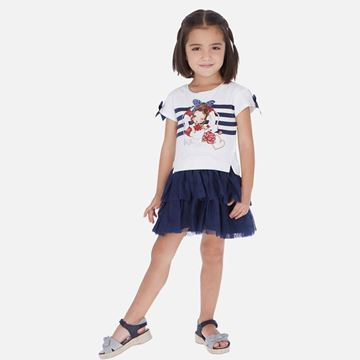 Picture of Mayoral Girls Navy Tulle Dress