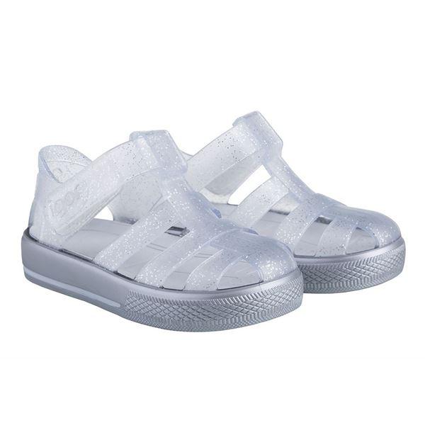 Picture of Igor Star Silver Glitter Velcro Jellies