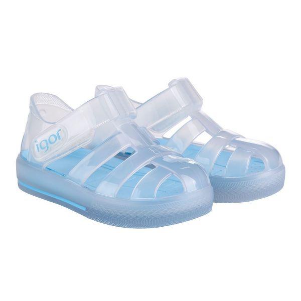 Picture of Igor Star Cristal Blue Velcro Jellies