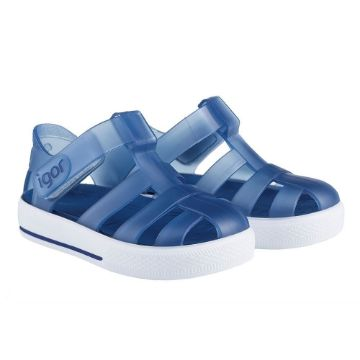 Picture of Igor Star Navy Velcro Jellies