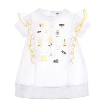Picture of Simonetta Yellow Frill Dress