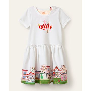 Picture of Oilily Girls 'Thedoor' White Dress