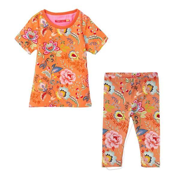 Picture of Oilily Girls Orange Print Leggings Set
