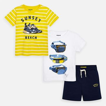 Picture of Mayoral Boys Navy & Yellow Short Set
