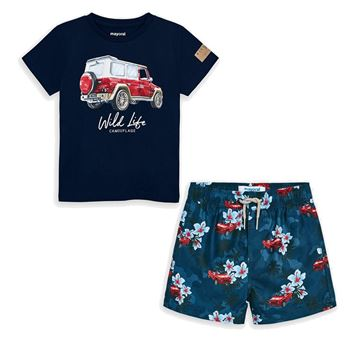Picture of Mayoral Boys Navy Swim Short Set