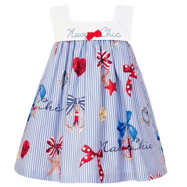 Picture of Balloon Chic Girls Sailor Print Dress