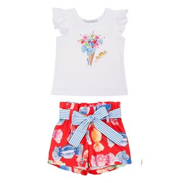 Picture of Balloon Chic Girls Sweetie Shorts Set