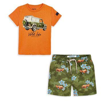 Picture of Mayoral Boys Orange Swim Short Set