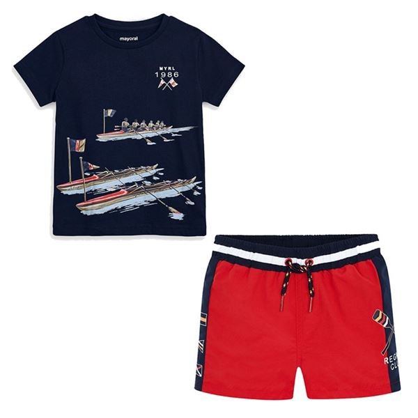 Picture of Mayoral Boys Red Swim Short Set