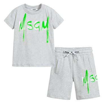 Picture of MSGM Boys Grey Short Set