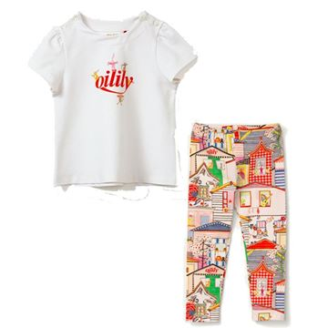 Picture of Oilily Girls Red Printed Leggings Set