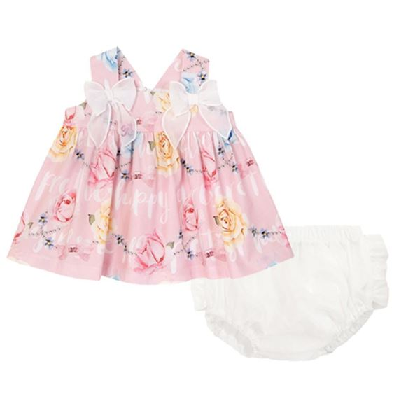 Picture of Balloon Chic Baby Pink Dress With Knickers