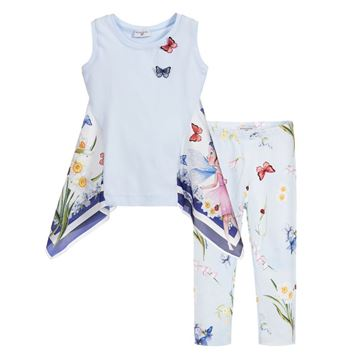 Picture of Monnalisa Girls Butterfly Leggings Set