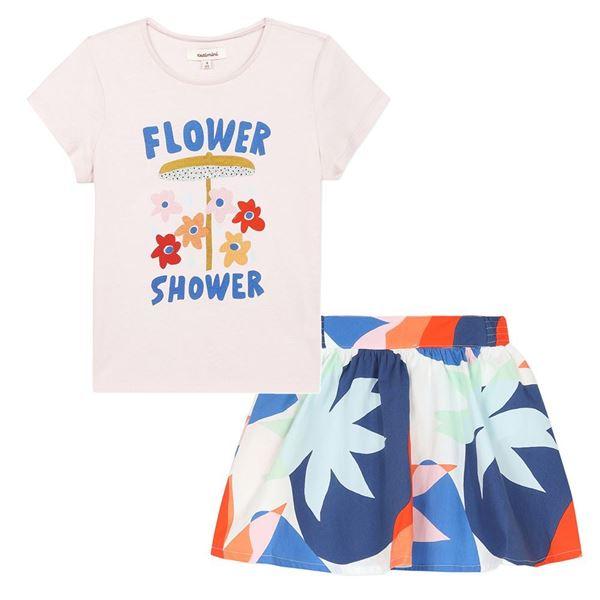 Picture of Catimini Girls 'Flower Power' T-Shirt & Printed Skirt