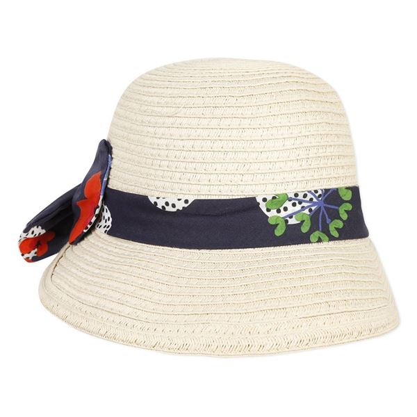 Picture of Catimini Girls Straw Hat With Ribbon