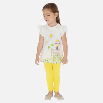 Picture of Mayoral Girls Yellow Leggings Set