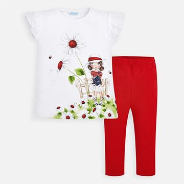 Picture of Mayoral Girls Red Leggings Set