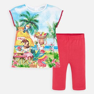 Picture of Mayoral Girls Printed Top & Leggings