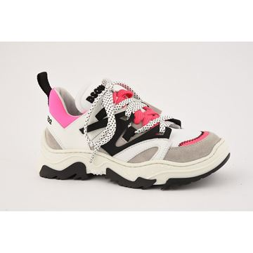 Picture of D Squared Girls Pink & Black Chunky Trainers