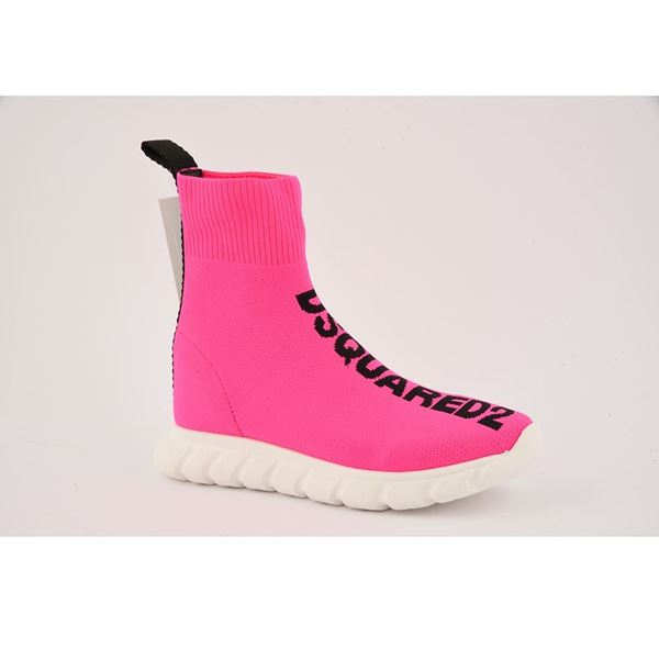 Picture of D Squared Girls Pink Sock Trainers