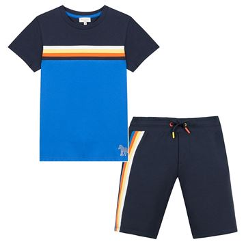 Picture of Paul Smith Boys Blue Short Set