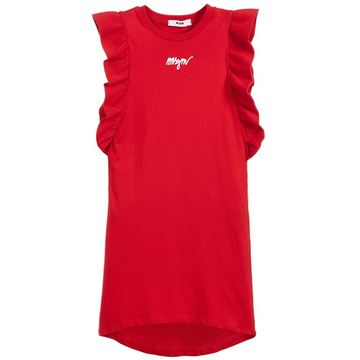 Picture of MSGM Girls Red Dress