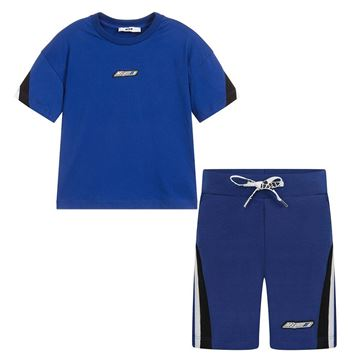 Picture of MSGM Boys Blue Short Set