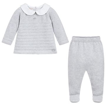 Picture of Paz Rodriguez Boys Grey Knitted 2 Piece Set