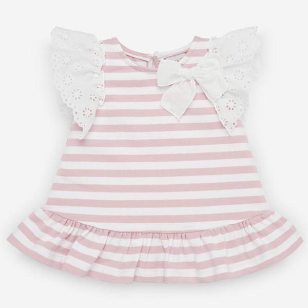 Picture of Paz Rodriguez Girls Pink Stripe Dress