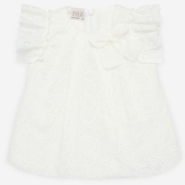 Picture of Paz Rodriguez Girls White Dress