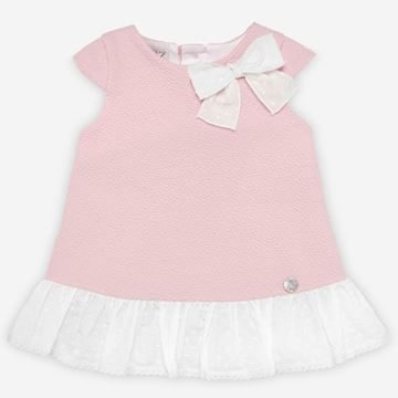 Picture of Paz Rodriguez Girls Pink Dress with Bow