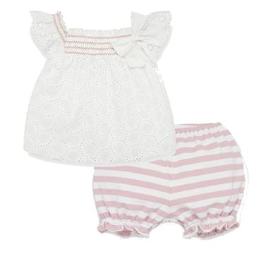 Picture of Paz Rodriguez Girls White Top with Stripe Shorts