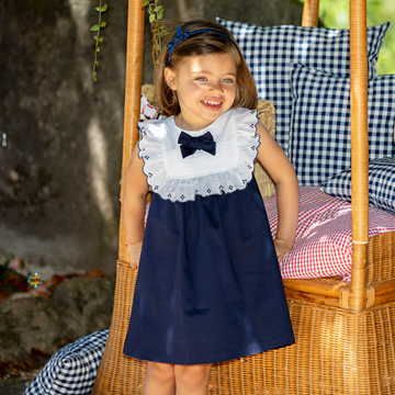 Picture of Patachou Girls Navy Dress