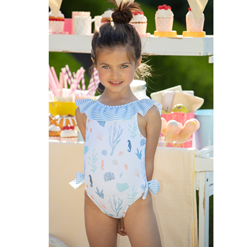 Picture of Patachou Girls Seahorse Swimming Costume