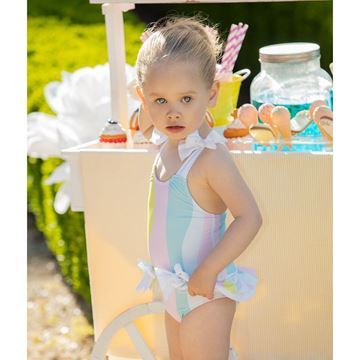 Picture of Patachou Girls Stripe Swimming Costume