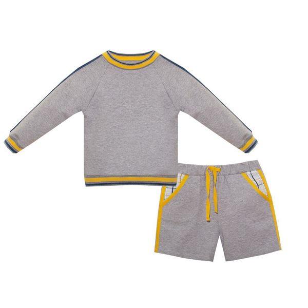 Picture of Patachou Boys Grey jumper & Short Set