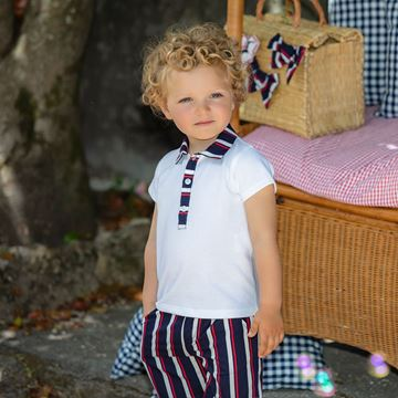 Picture of Patachou Boys Stripe Polo Set