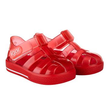 Picture of Igor Star Brillo Red Velcro Jellies