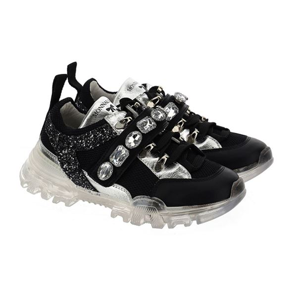 Picture of Monnalisa Girls Chunky Black Trainers