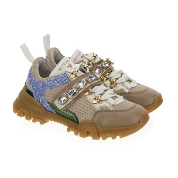 Picture of Monnalisa Girls Chunky Beige Trainers