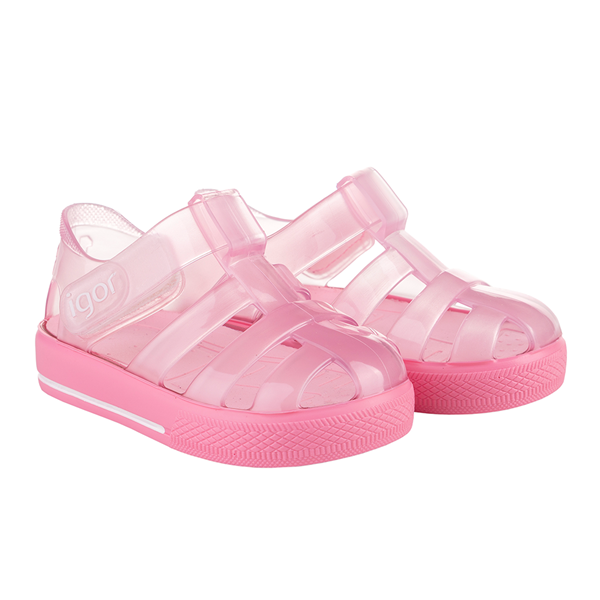 Picture of Igor Star Brillo Pink Velcro Jellies